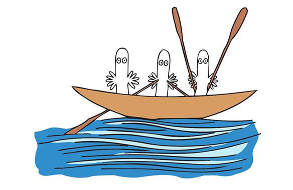 ブログ更新「海とムーミンパパ」